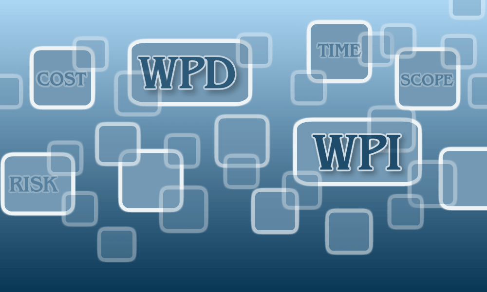 Work Performance Data WPD and Work Performance Information WPI