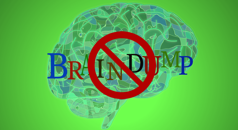 No More Braindump During the Awareness Session of the PMP Exam